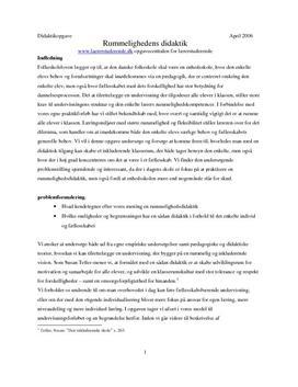 Rummelighedens didaktik | Undervisningsforløb | Det moderne gennembrud