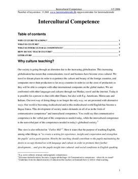 Eksamensopgave om Intercultural Competence