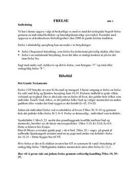 Frelse i Kristendom | Synopsis