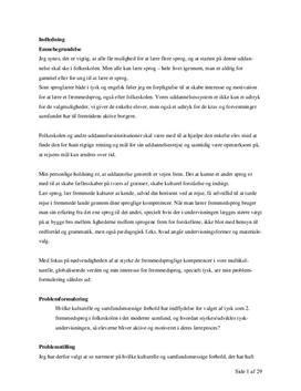 Motivation til tyskundervisning | Bacheloropgave