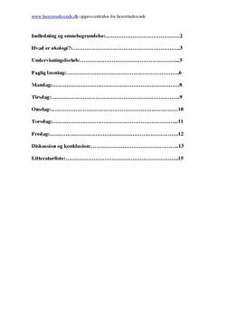 Økologi i madkundskab | Undervisningsforløb