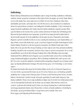 Fransk madkultur | Undervisningsforløb