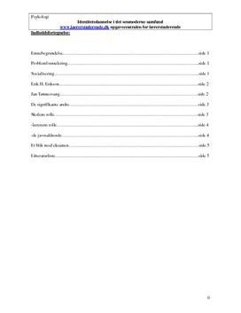 Identitetsdannelse i det senmoderne samfund | Synopsis