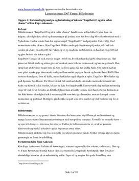 Dansk eksamen 2007 billedroman