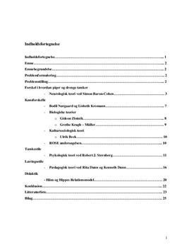 Bacheloropgave om kønsrolleproblematikken i biologi