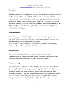 identitetsdannelse i det senmoderne samfund synopsis