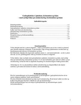 Gudsopfattelser i jødedom, kristendom og islam | Synopsis