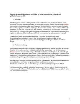 Semesteropgave om aktivt medborgerskab
