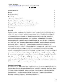 Dannelse og uddannelse synopsis