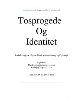 Bacheloropgave om tosprogede og identitet