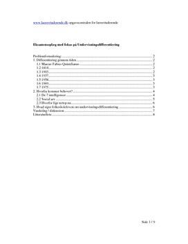 Undervisningsdifferentiering | Eksamensopgave SIS