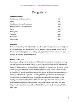 Synopsis om hvad er det gode liv?