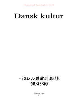 Dansk kultur i den multikulturelle folkeskole