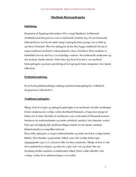 Synopsis om muslimsk børneopdragelse