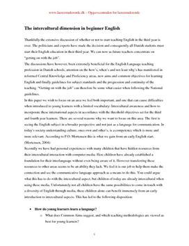 The intercultural dimension in beginner English