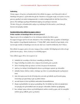 karakteristik af tekst