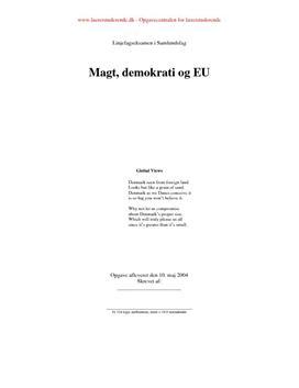 Eksamensopgave om magt og demokrati i EU