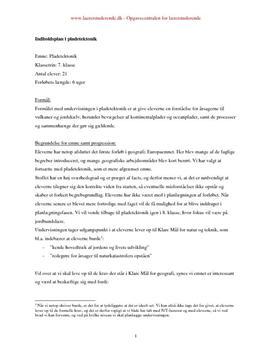 Pladetektonik i 7. klasse   Undervisningsforløb og undervisningsplan