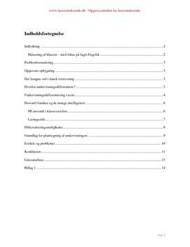 Undervisningsdifferentiering i engelsk
