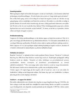 Synops om social arv