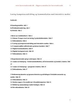 Bacheloropgave om læring med interaktive medier