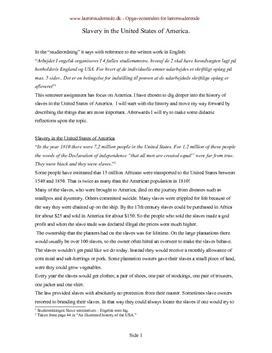 Slavery in the USA | Engelsk | Didaktiske overvejelser