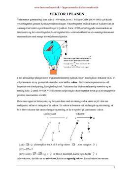 Matematikfagligopgave om vektorer