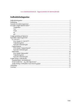 Levnedsmiddelhygiejne og mikroorganismer