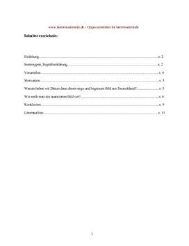 Semesteropgave om tysk kultur