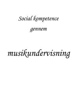 Sociale kompetencer i musik