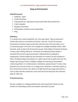 Semesteropgave om det musikalske, matematiske og lyriske
