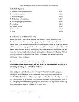 Kompetencer | Håndværk og design | Synopsis