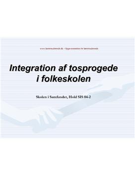 Integration af to-sprogede i folkeskolen   Synopsis