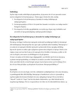 Dansk som andetsprog | Skriftlig eksamensopgave i maj 2008