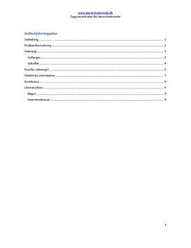 Vedvarende energikilder | Undervisningsforløb