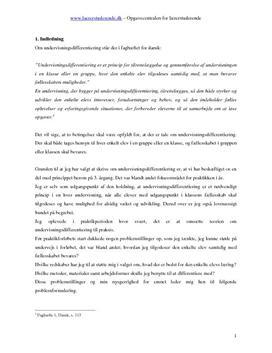 Didaktikopgave om undervisningsdifferentiering