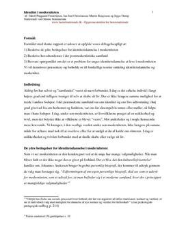 Identitetsdannelse afløsningsopgave