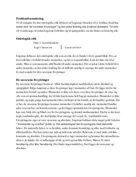 Løgstrup ontologiske etik