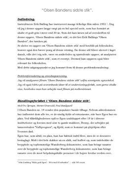 Olsen Bandens Sidste Stik Analyse Lærerstuderendedk