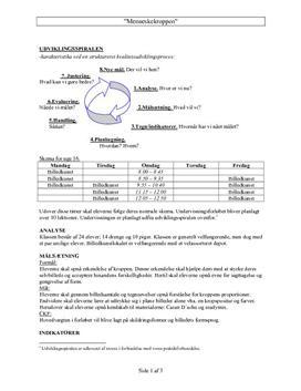 Menneskekroppen | Undervisningsplan
