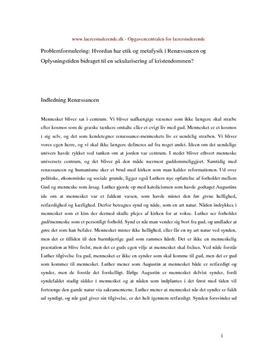 Etik og sekularisering synopsis
