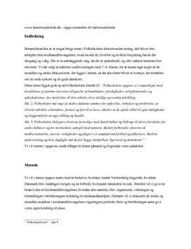 Den danske modstandsbevægelse | Eksamensopgave