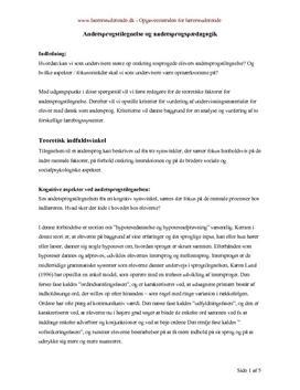 Andetsprogstilegnelse og andetsprogspædagogik semesteropgave