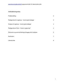 Kant og Løgstrup semesteropgave