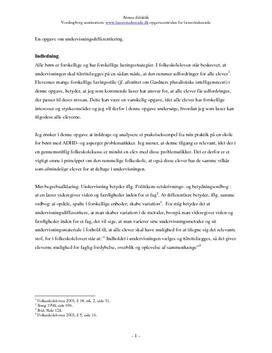 Undervisning af børn med ADHD- og aspergers