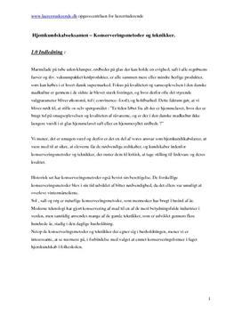 Konserveringsmetoder i hjemkundskab