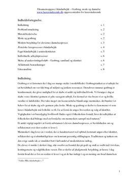 Håndværk og design og dannelse | Eksamensopgave