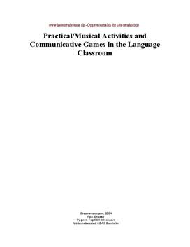 Practical/musical activities and communicative games