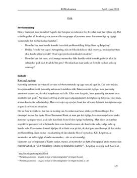 Etik | Eksamensopgave i KLM