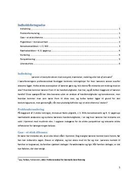 Eksamensopgave i KLM om etik